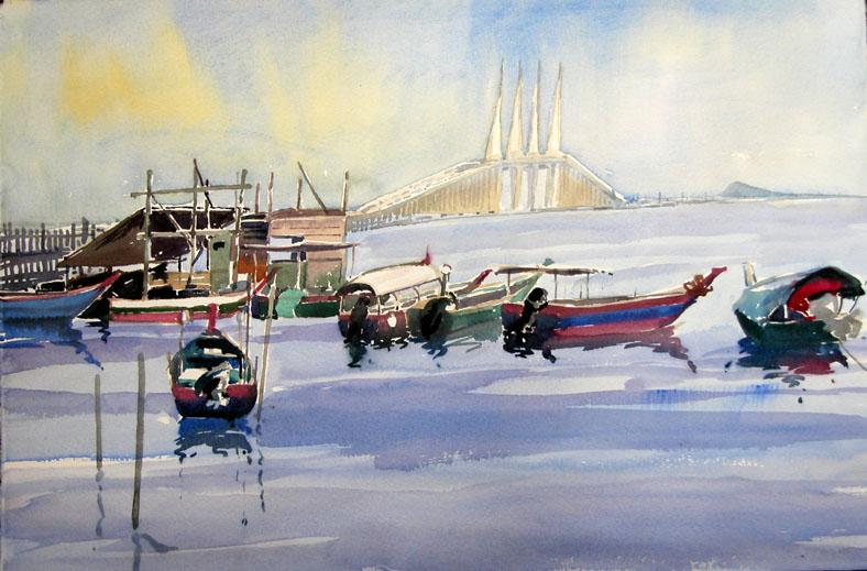 Malaysia Penang Bridge Painting