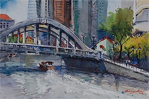 Singapore Watercolour Society Vice President Marvin Chew