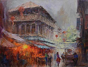 Singapore Famous Oil Painting Artist Ng Woon Lam