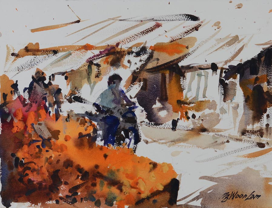 Singapore Singapore Raffles Hotel Watercolour Painting Affordable Art Show