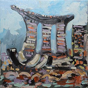 Singapore Marina Bay Sand MBS Watercolour Painting Affordable Art Show