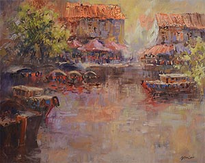 Singapore Oil Painting Ng Woon Lam