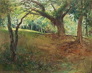 Singapore Botanic Garden Oil Painting