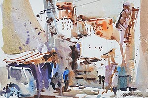 Geylang Watercolour Painting Singapore