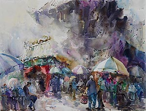 Singapore Watercolour Oil Painting Ng Woon Lam nws aws