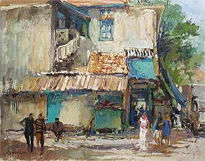 Little India McKenzie Road Selegie Singapore Watercolor Painting