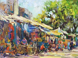 Singapore Best Artist Oil Watercolor Painting