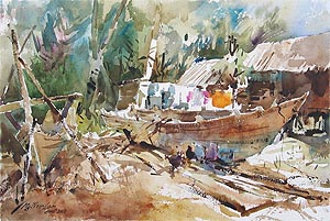 Singapore Watercolour Society Ng Woon Lam NWS AWS