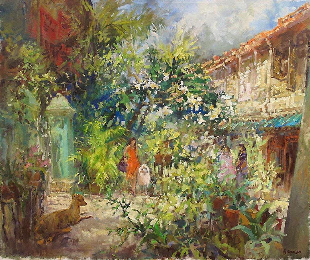 Singapore Oil Painting Artist Ng Woon Lam nws aws mfa