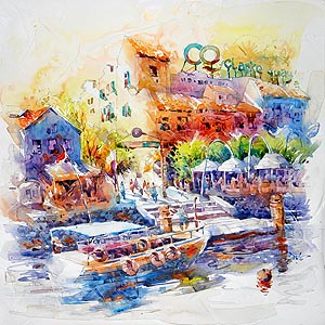 Singapore River Clarke Quay Painting Jack Tia Kee Woon