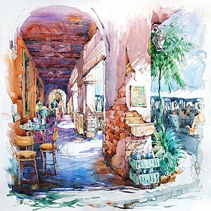 Singapore Clarke Quay Alley Painting Jack Tia Kee Woon
