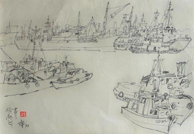 Seascape Sketch No.5 by Tong