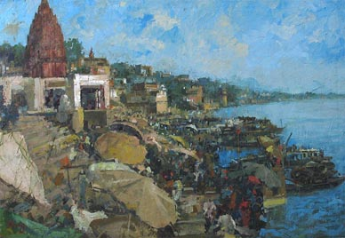 Seascape Impressionist Oil Painting