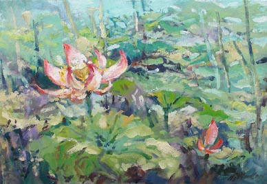 Lotus Lilies oil Painting