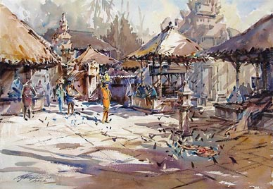Ng Woon Lam NWS Watercolour Painting