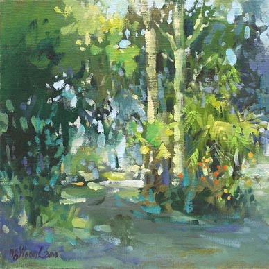 Botanical Garden Singapore Oil Watercolour Painting