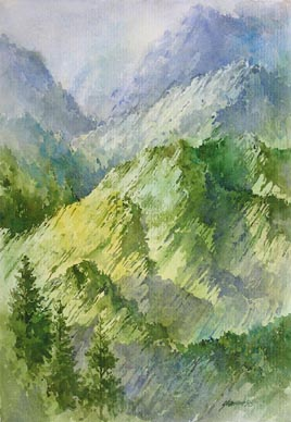 Cameron Highland Malaysia Watercolour Painting