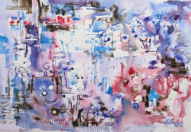 Singapore Contemporary Watercolour Abstract Painting