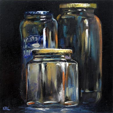 Singapore Still Life Bottles Oil painting