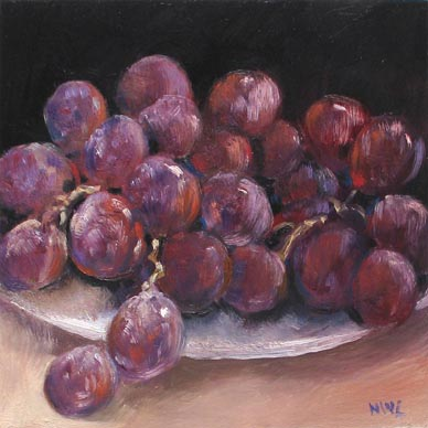 Singapore Still Life Oil painting Grapes Fruits