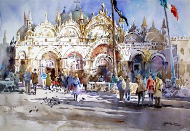 Ng Woon Lam Singapore Watercolor Oil Paintings