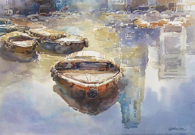 Singapore Watercolour oil Paintings